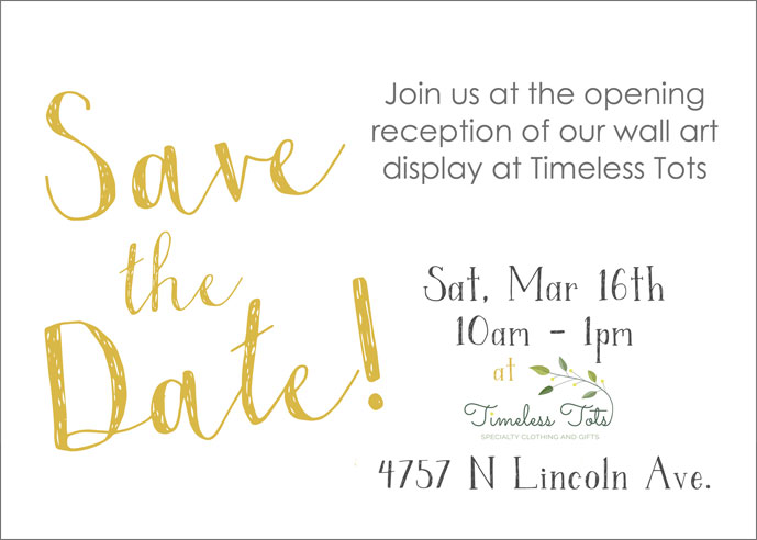 Opening Reception at Timeless Tots